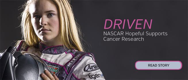 NASCAR Hopeful Supports Cancer Research