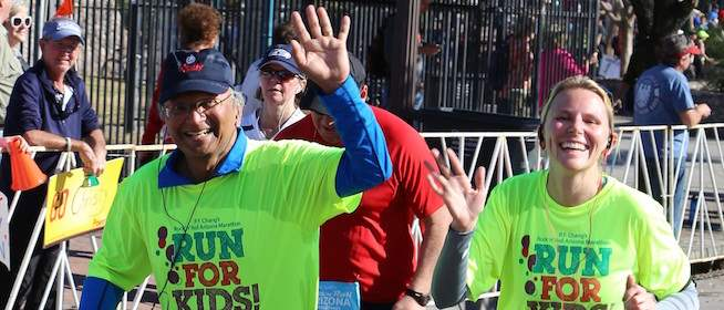 Dr. Narayanan Runs Marathon for Rare Disease